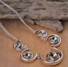 Grey Balance Necklace Made with Element of Swarovski