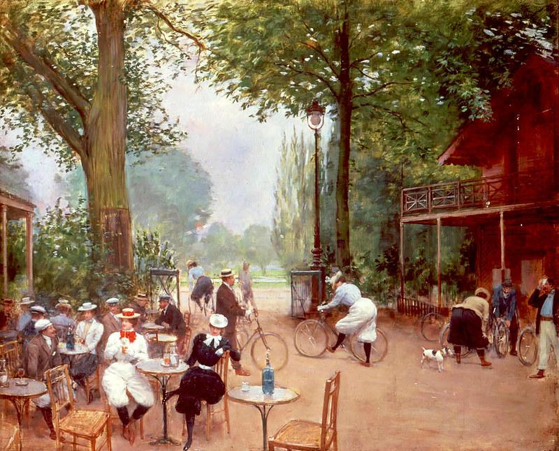Le Chalet du Cycle au Bois de Boulogne by Jean-Georges Béraud, 1900