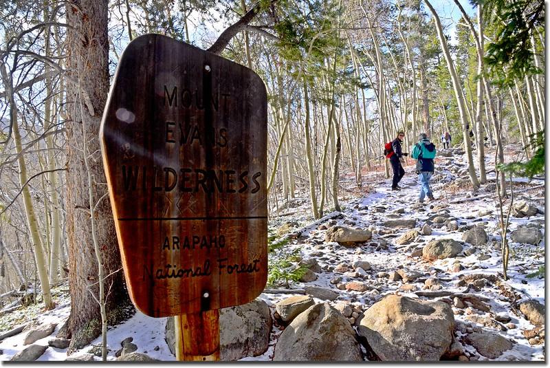 Mount Evans Wilderness boundary 2