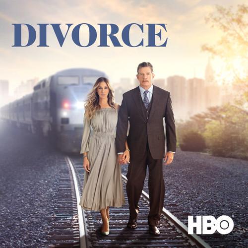 Divorce剧照。无论中外似乎都有把人生路比作铁轨,相遇是上车,分手死亡是下车