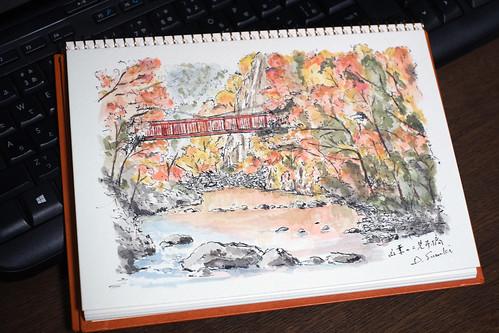 紅葉の二見吊橋