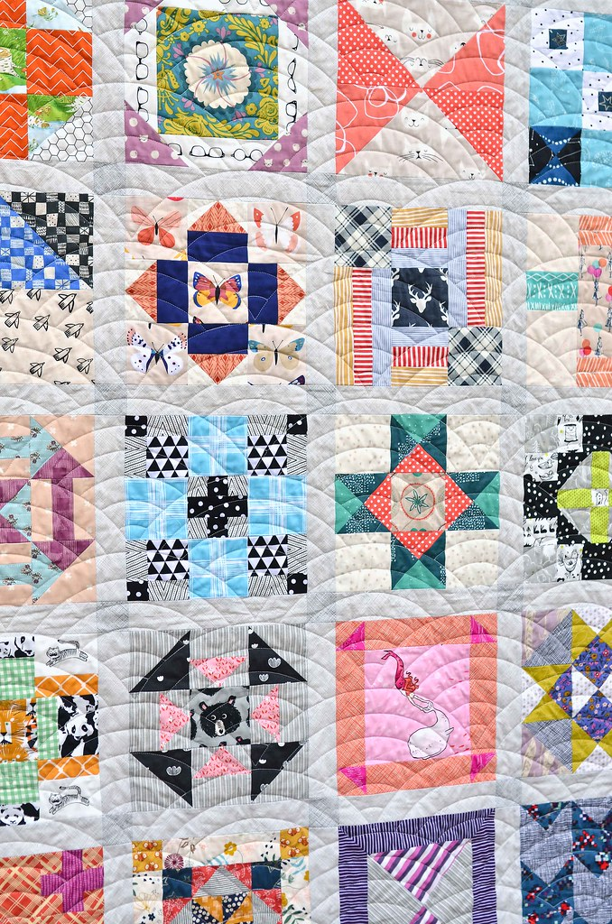 Fussy Cut Sampler Finished Quilt