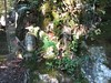 Photo:mossy rock face, statues at Awatabe By anthroview