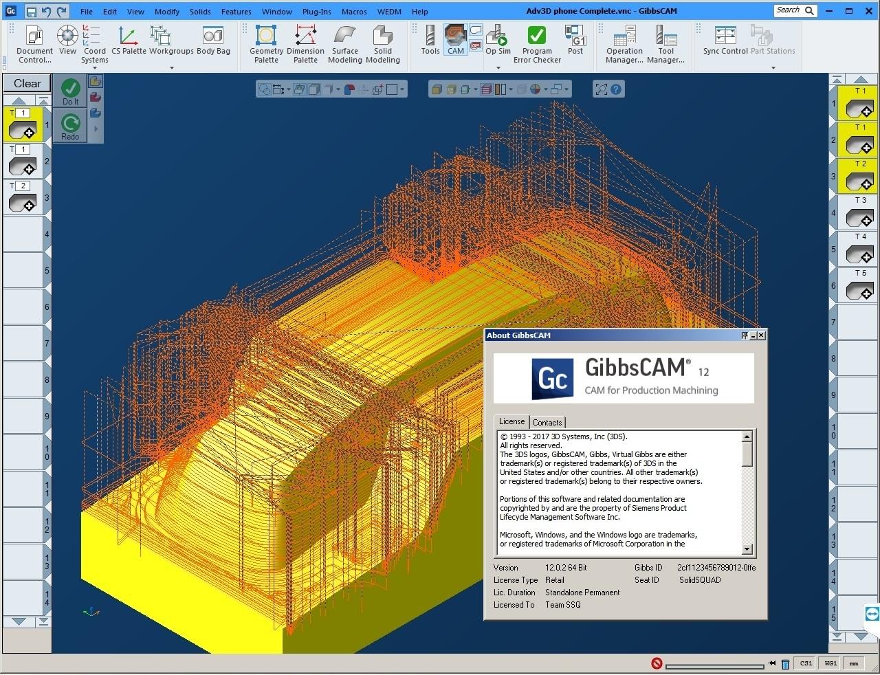 Programe with GibbsCAM V12 Build 12.0.2.0 full license