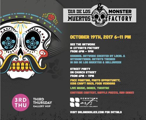"""""""Dia de los Muertos & Monster Factory"""" Exhibit and Block Party"""