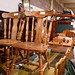 Dark wood stained kitchen chairs E30