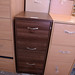Walnut 3 drawer filing cabinet E110