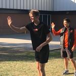 Josh and Landon giving high 5's (Sept 29, 2017)