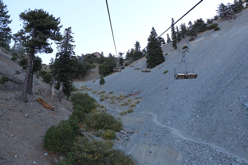 Nearing the Baldy Notch on the Mt. Baldy Ski Lift