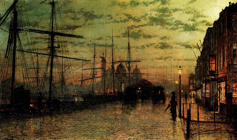 Humber Docks Hull, John Atkinson Grimshaw, 1884