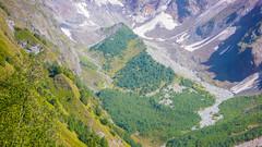 Podejscie doliną Koruldashi pod lodowiec.