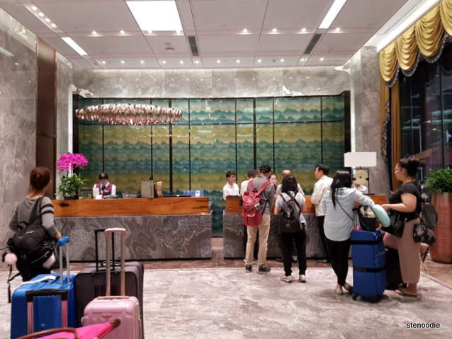 Yuantong Hotel reception desk