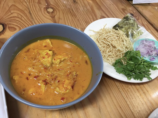 Self-Cooked Khao Soy with Chicken