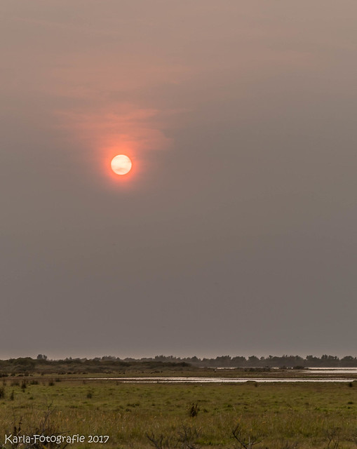 Orange sun 40 minutes before it went down