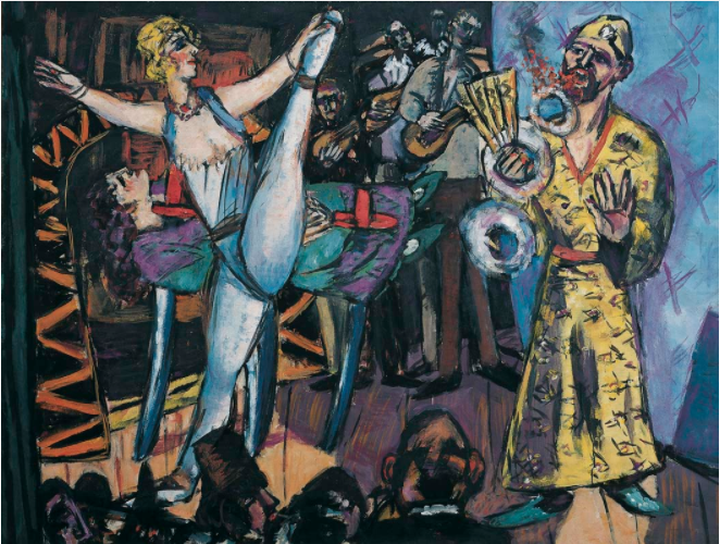 Max Beckmann, Great Variety with Wizard and Dancer, 1942