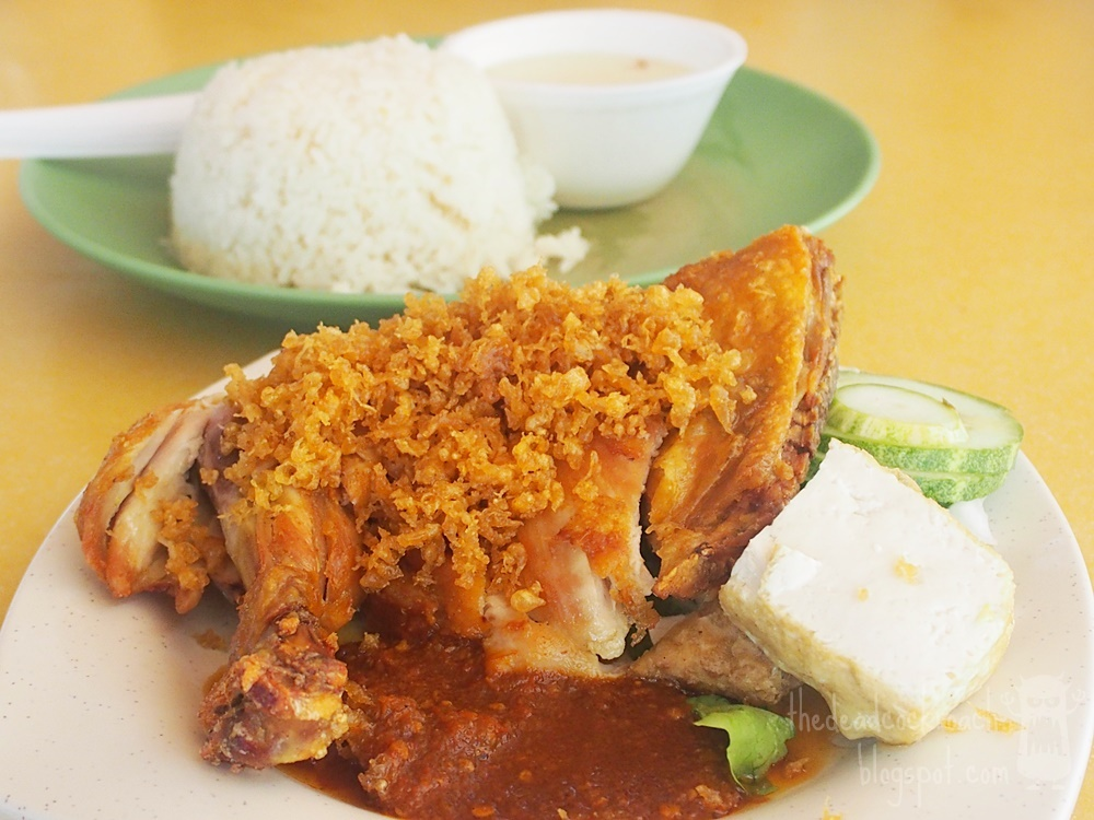 ayam penyet, farasha muslim food, food, food review, halal, malay food, review, seah im food centre, singapore, tempeh, fried chicken