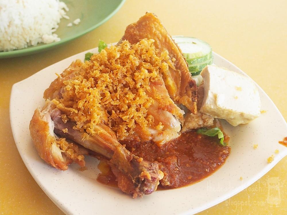 ayam penyet, farasha muslim food, food, food review, halal, malay food, review, seah im food centre, singapore, tempeh, fried chicken