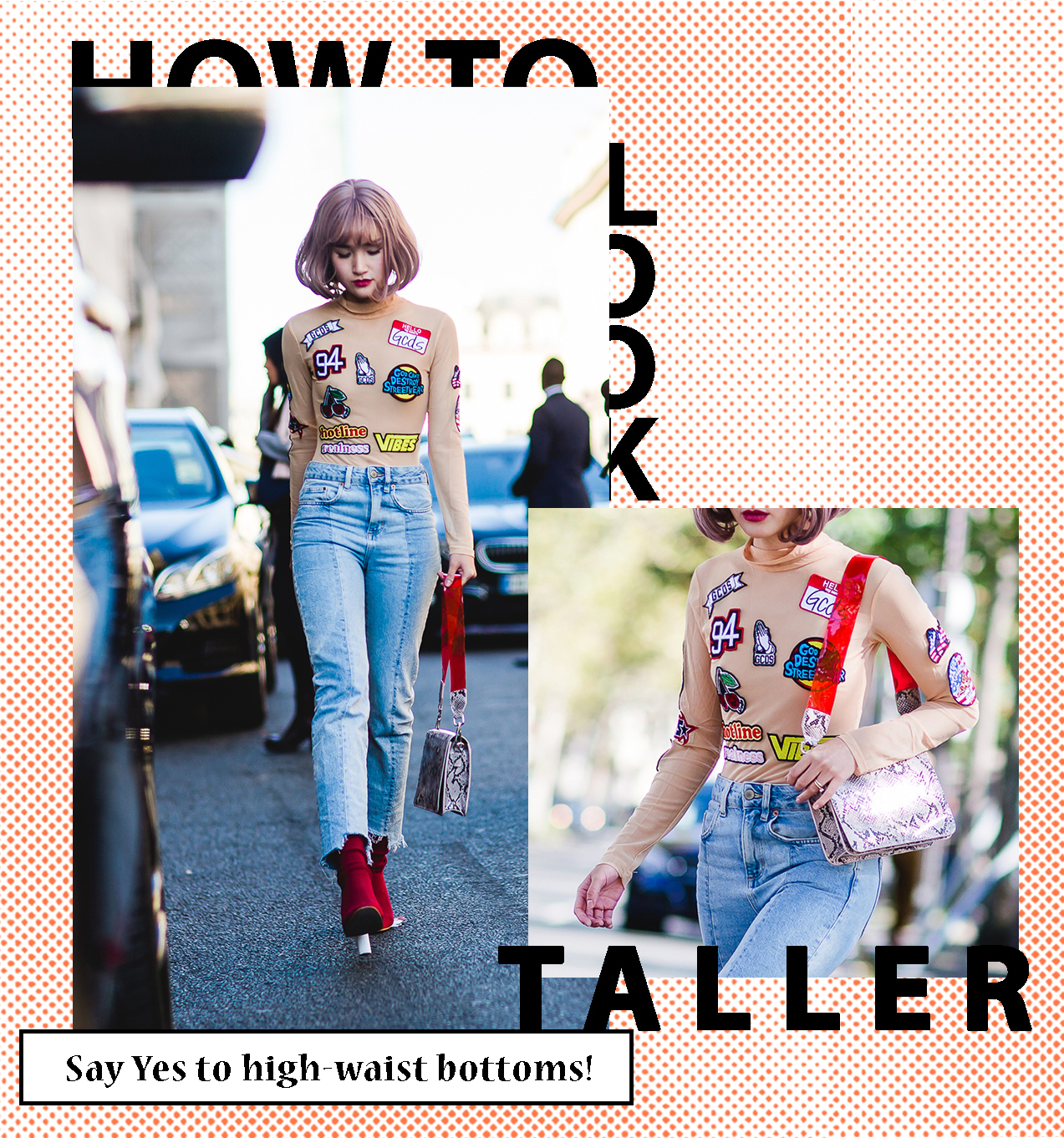 high-waisted-jeans-to-look-taller