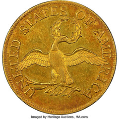1795 BD-3 Small Eagle Five Dollar reverse
