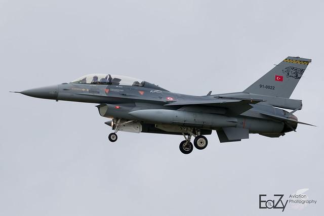 91-0022 Turkish Air Force Lockheed Martin F-16DJ Fighting Falcon