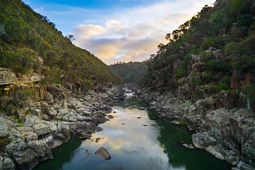 westlaunceston tasmania australia au cataract gorge valley sunset golden hour