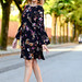 Little black floral dress for warm Autumn Vibes ( Fashion Blogger Outfit)