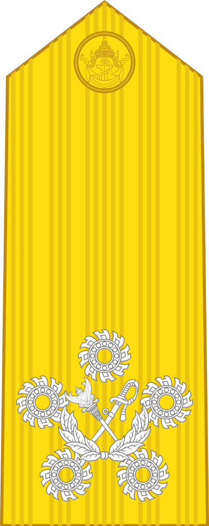 Rank insignia of a Admiral of the Fleet of the Royal Thai Navy