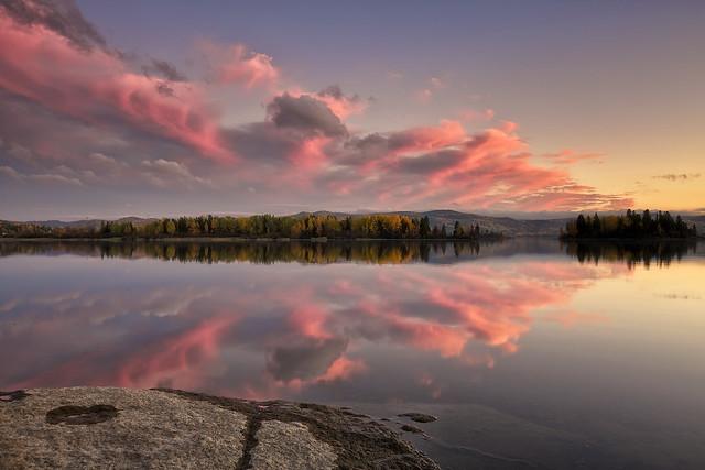 Fin du jour sur le Lac Kénogami