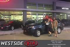 Happy Anniversary to Dustin on your #Kia #Sorento from Dennis Celespara at Westside Kia!