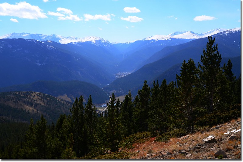 Looking South at Guanella Pass & Mount Evans et al. from Bill Moore Lake Trail