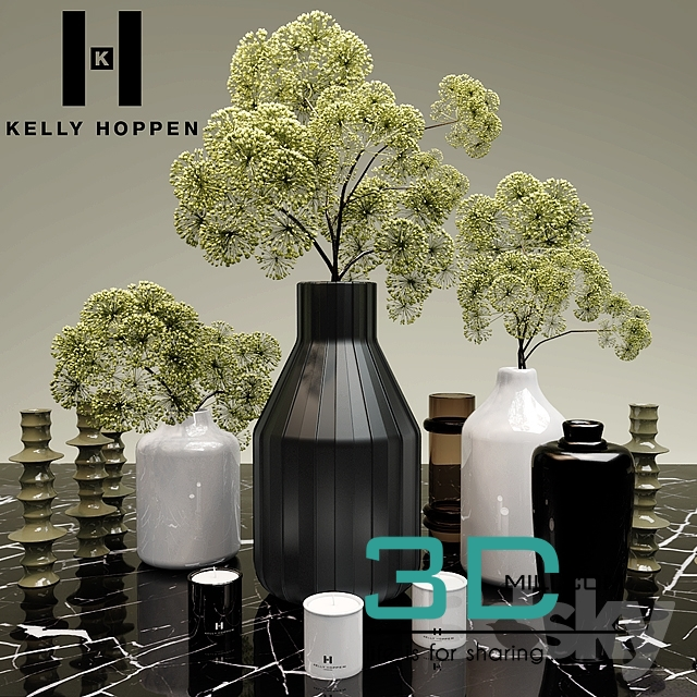 17plantsand Vases Site Kelly Hoppen 3d Model