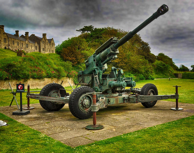 World War II anti-aircraft gun. Credit Karen Roe