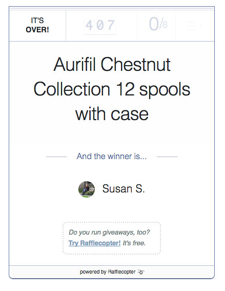 Aurifil Giveaway Winner at From My Carolina Home