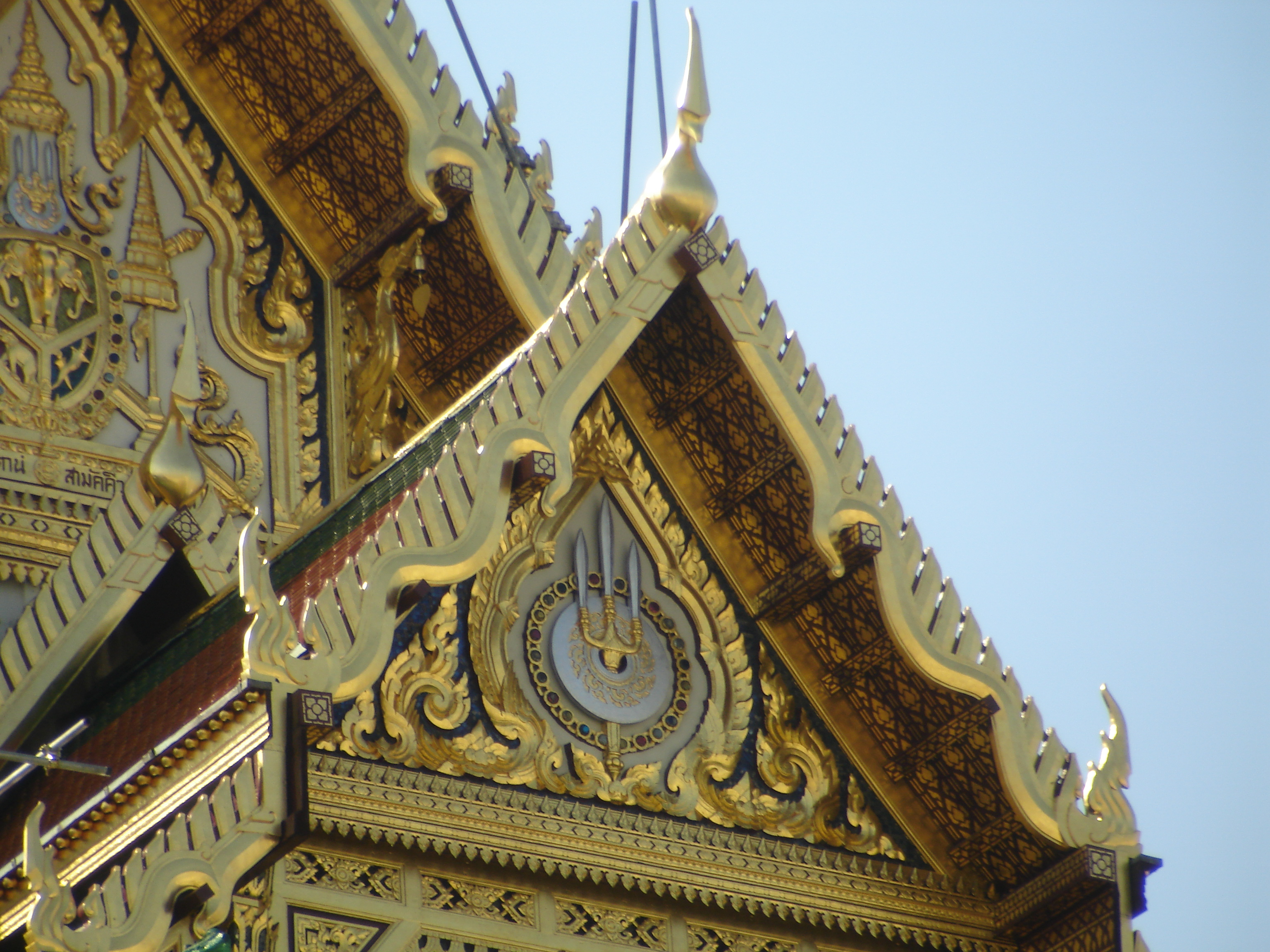 Cipher of the Royal House of Chakri at the Grand Palace in Bangkok. Photo taken by Mark Jochim on January 8, 2006.