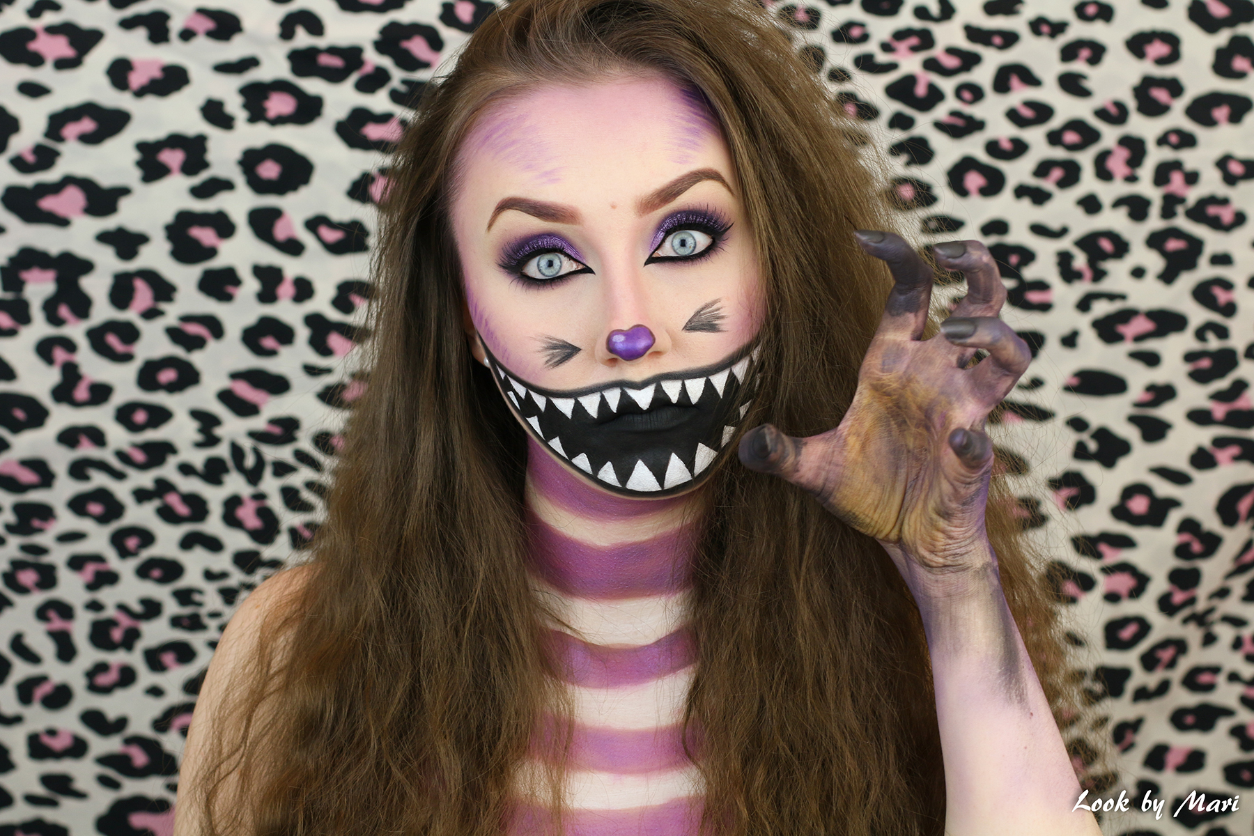 6 lisa in wonderland cat makeup costume halloween 2017 inspiration