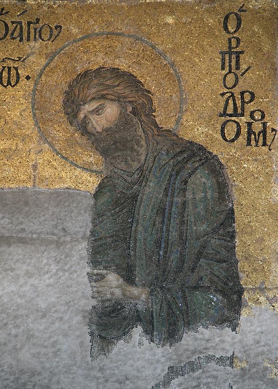 Deesis, detail of John MR (Haghia Sophia, Istanbul)