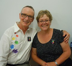 Reg & Anne from Newmarket Happy Hoppers & Triangle Squares