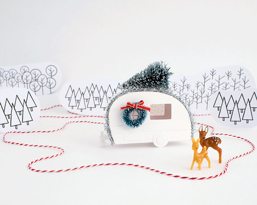 Happy Camper Putz Christmas Ornament DIY Kit by Holiday Spirits Decor