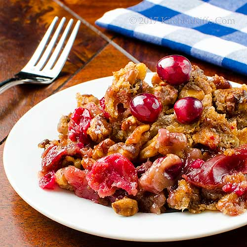 Cranberry-Apple Crisp with Nut Crumble