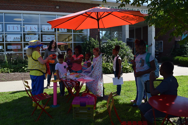 WNEU School of Law participates in the 4th Annual Community Festival at the Mason Square Branch Library (Thursday, August 17, 2017)
