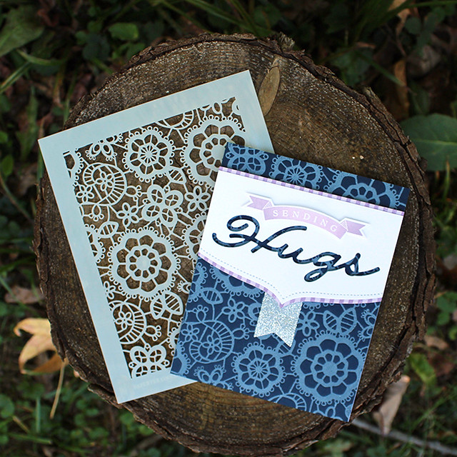 Lace Sending Hugs Card 3