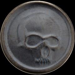 Black Skull of Crom fantasy coin obverse