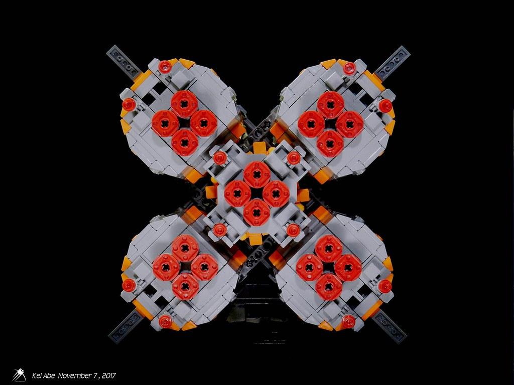 Minifig-scale LEGO Soyuz-1-3 Soyuz-FG