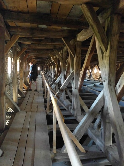 Exploring the rafters of a medieval fortified church - Romania