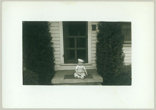 Child on a porch