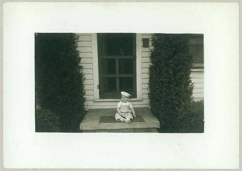 Child on a porch
