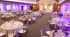 Beautiful reception with stunning #uplight lighting + decor! Great photo via #magnoliahotels