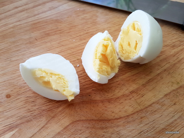 boiled egg chopped up