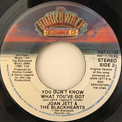 JOAN JETT & THE BLACKHEARTS:I LOVE ROCK 'N ROLL(LABEL SIDE-B)