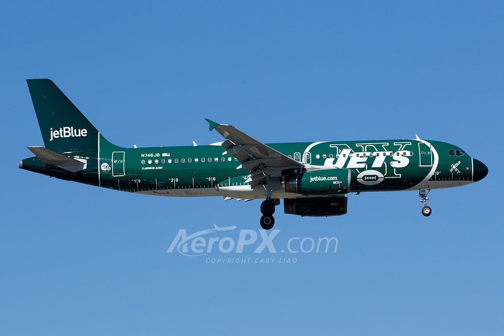 "JetBlue Airways Airbus A320-232 - N746JB ""New York Jets"""